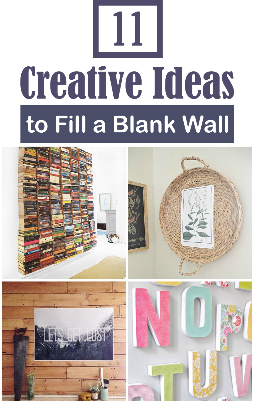 11 creative ideas to fill a blank wall on a tiny budget for What to do with a blank wall