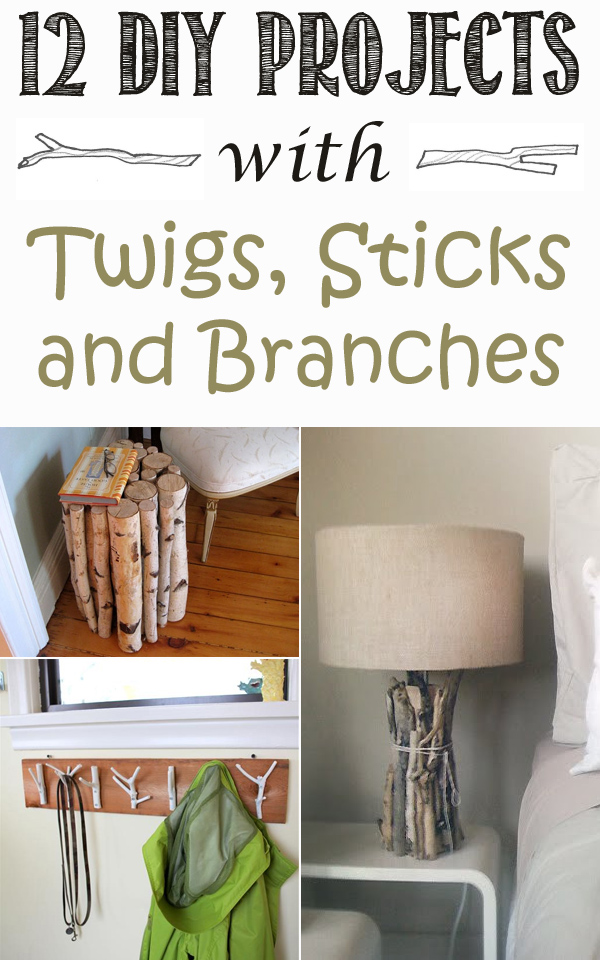 12 best diy projects with twigs sticks and branches for Decorations you can make at home