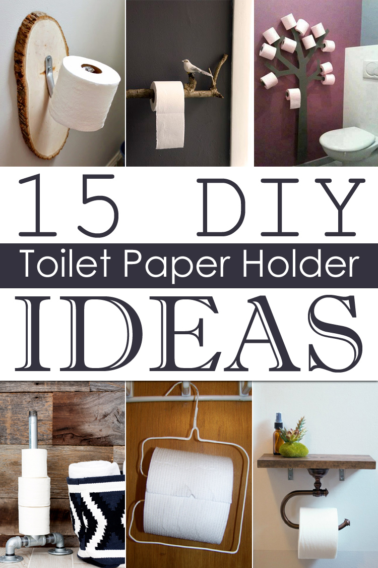 15 diy toilet paper holder ideas - Bathroom Accessories Toilet Paper Holders