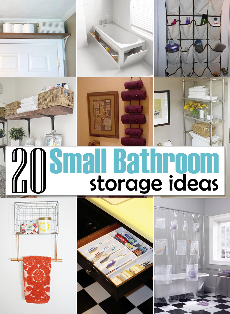 20 creative storage ideas for a small bathroom organization for Diy bathroom ideas for small spaces