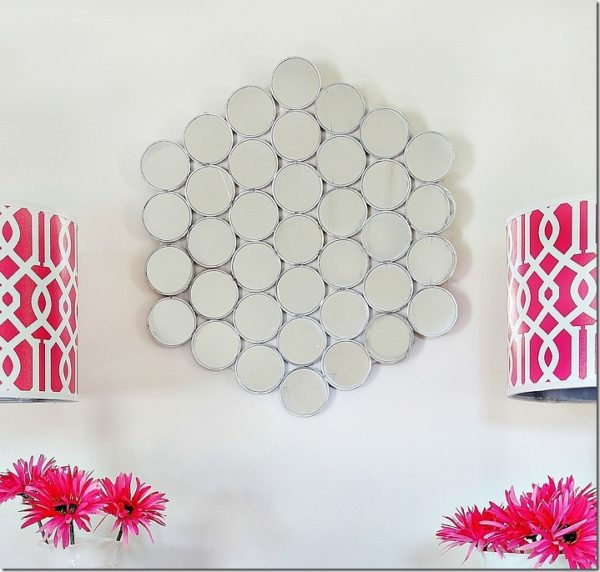 Accent Wall Mirror from Dollar Store Compacts