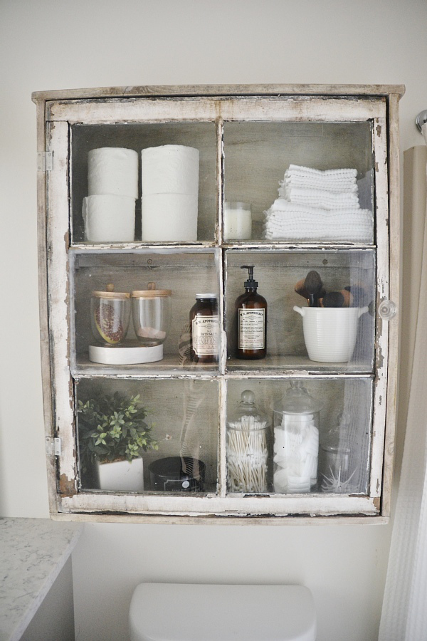 Lovely Make Your Own Bathroom Cabinet From Antique Window