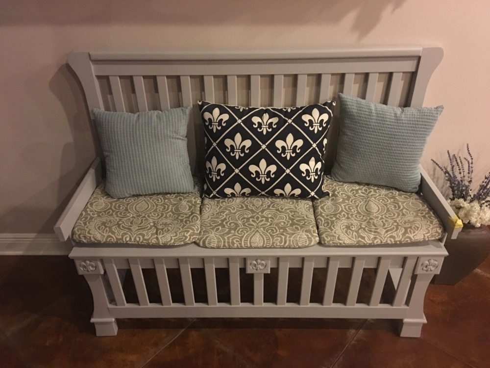 Bench out of a Baby Crib