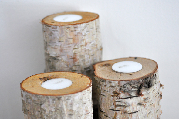 20 amazing log decor ideas for your home for Log candles diy