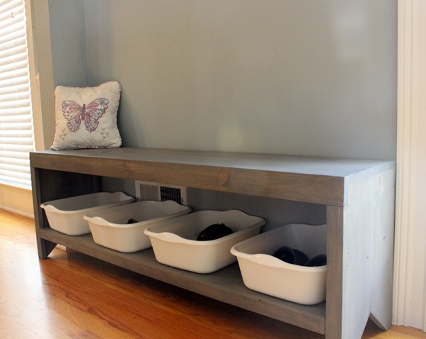 20 interesting diy entryway benches ideas Living room shoe storage ideas