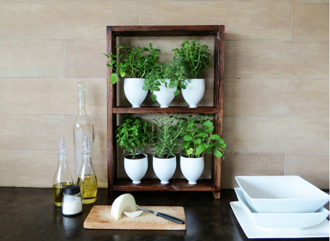 18 easy diy projects you need to try this weekend for Making a kitchen garden