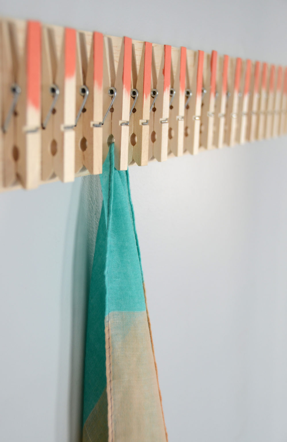 Clothespin Scarf Holder