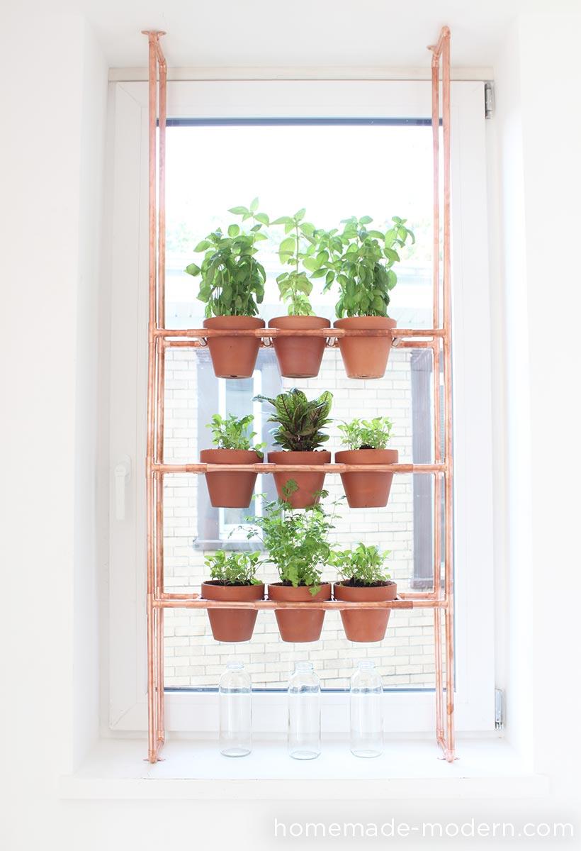 Copper Rack Herb Garden