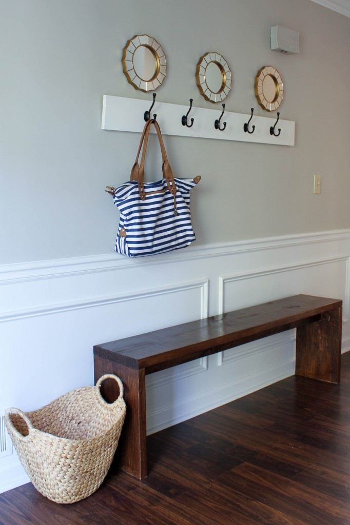 Easy Wood Entryway Bench