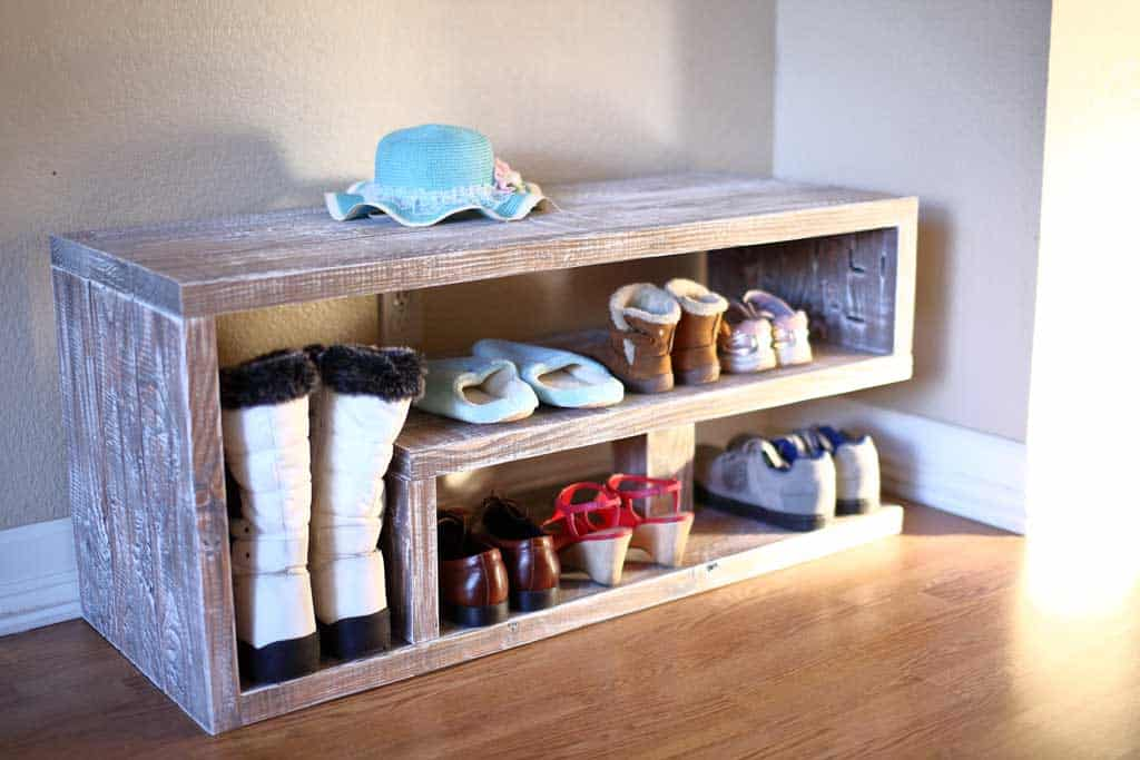 Entryway Shoe Rack Bench
