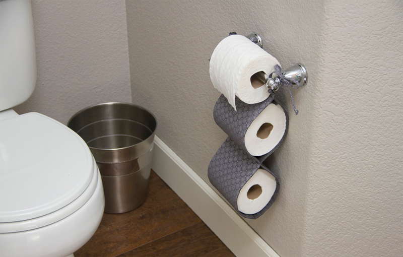 15 diy toilet paper holder ideas for Loo roll storage