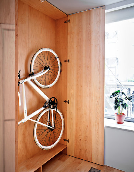 Make Storage Space for a Bike That is Hidden in the Wall