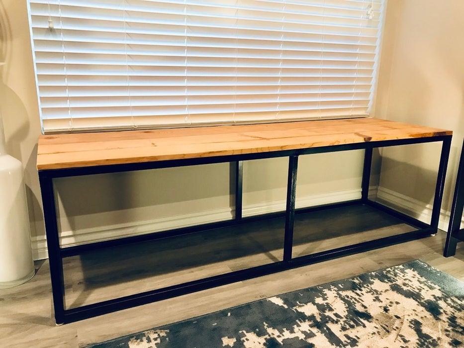 Steel & Wood Bench