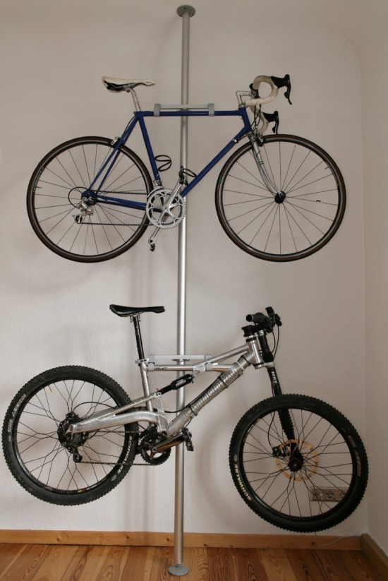 Store Bike Using A Pole