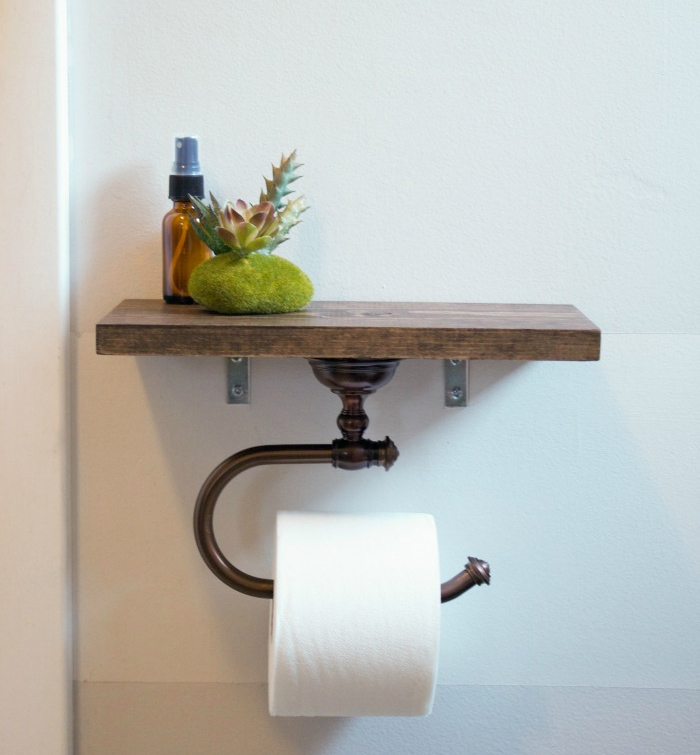 15 diy toilet paper holder ideas - Fabriquer porte papier toilette ...