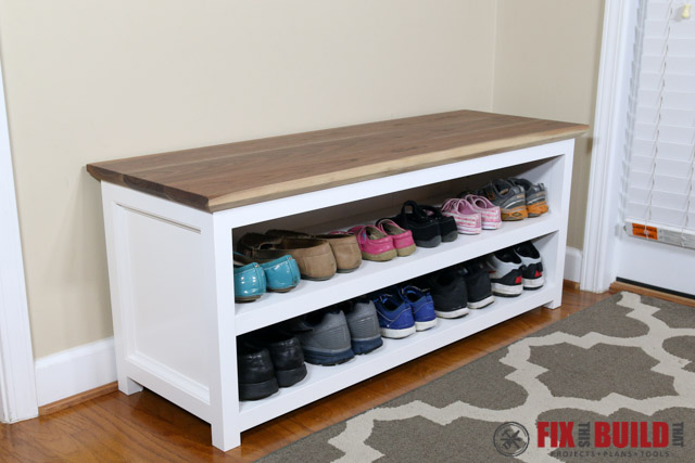 Two-shelf Entryway Bench