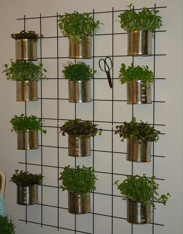 10 creative indoor vertical garden ideas vertical garden with tin cans workwithnaturefo