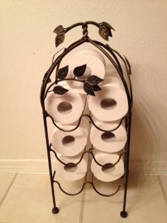 Wine Rack Toilet Paper Holder