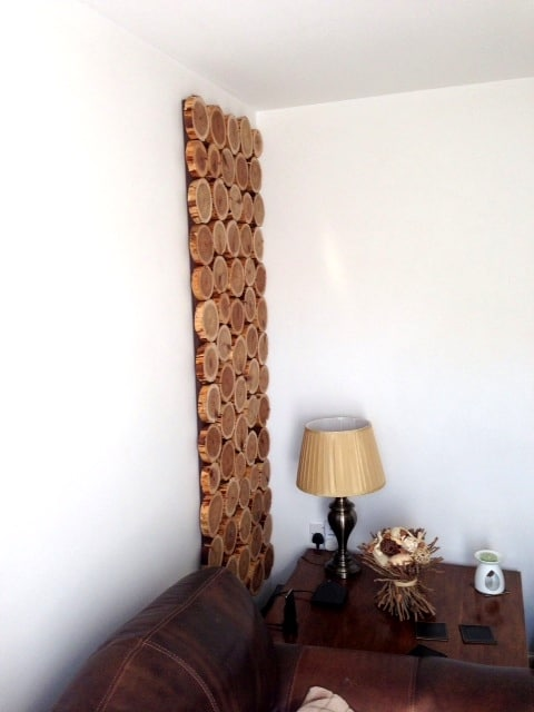 decorative log wall hanging