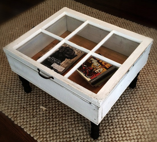 15 creative ways to repurpose and reuse old windows for Creative ways to make a table