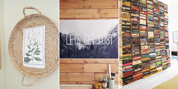 11 Creative Ideas To Fill A Blank Wall On A Tiny Budget