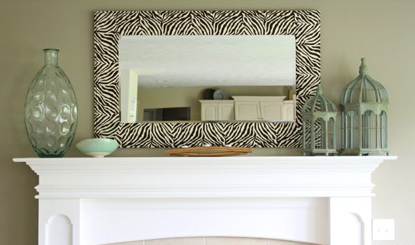 Oversized Wood Wall Mirror