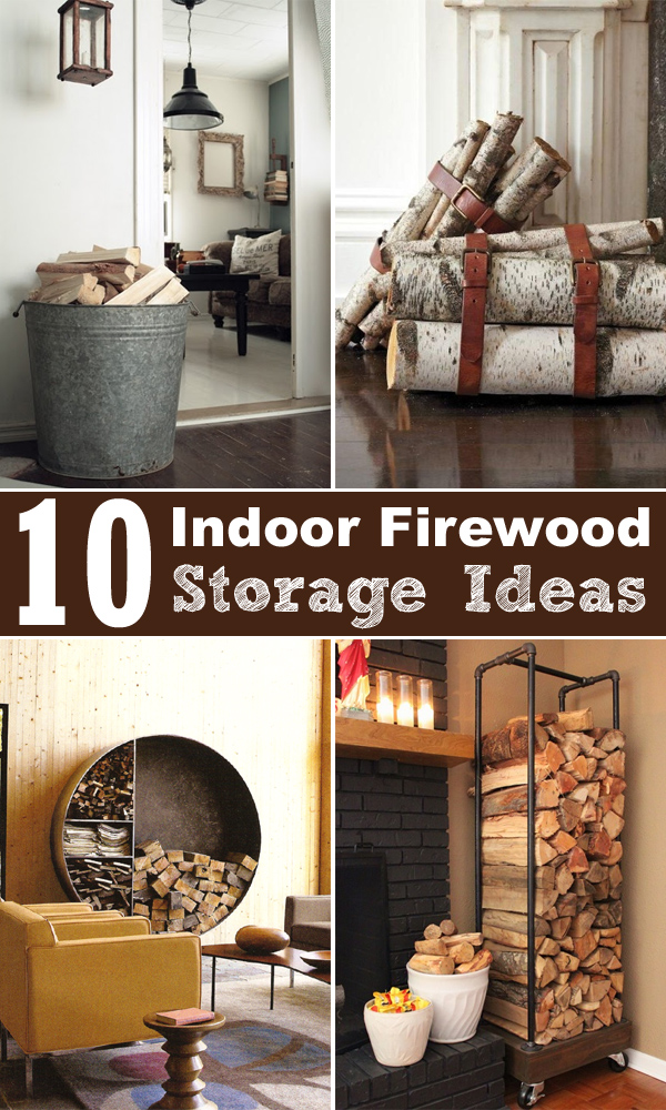 Charming 10 Indoor Firewood Storage Ideas