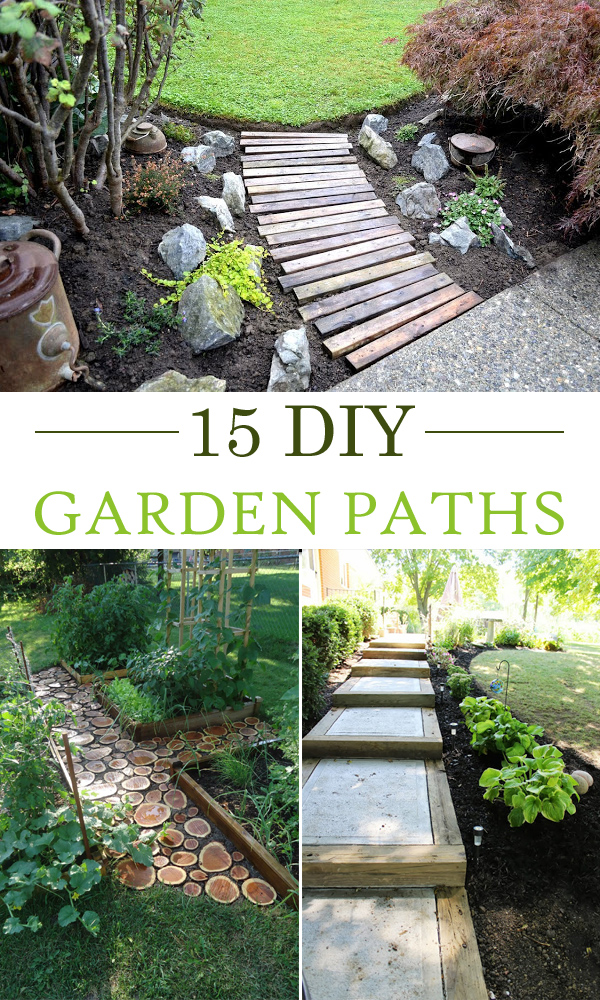 15 Creative DIY Garden Path Ideas