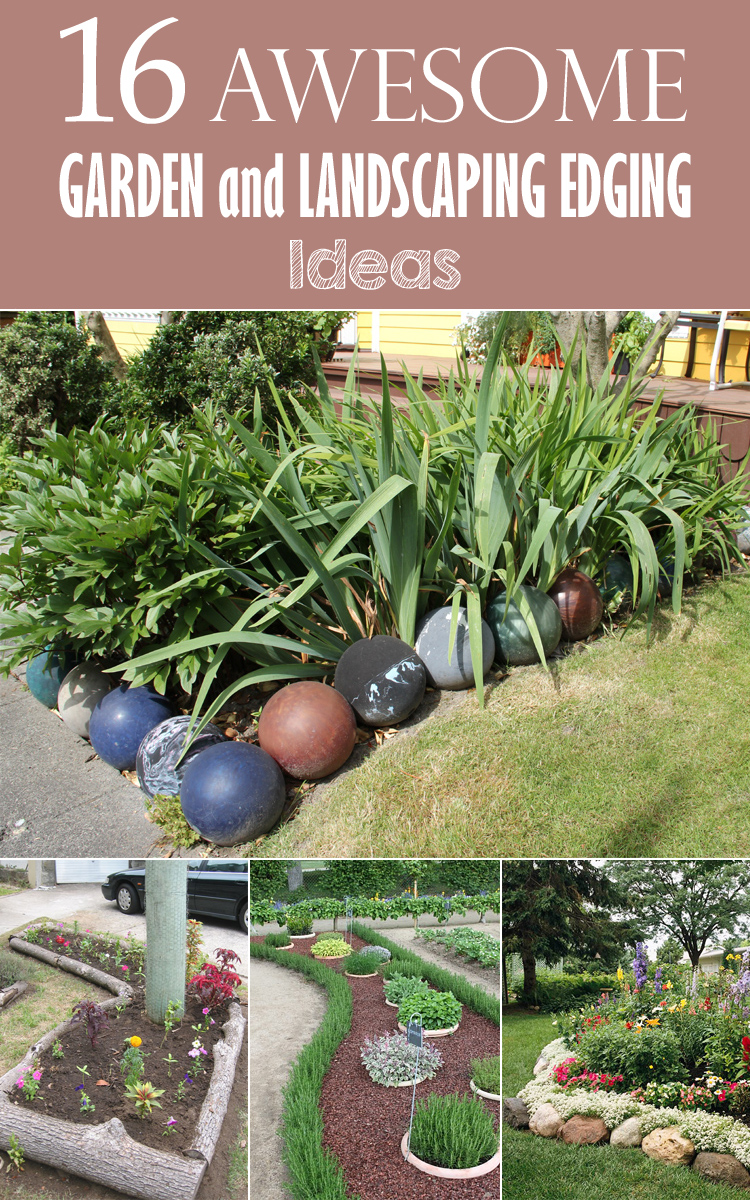 16 awesome garden and landscaping edging ideas for Cheap diy garden edging