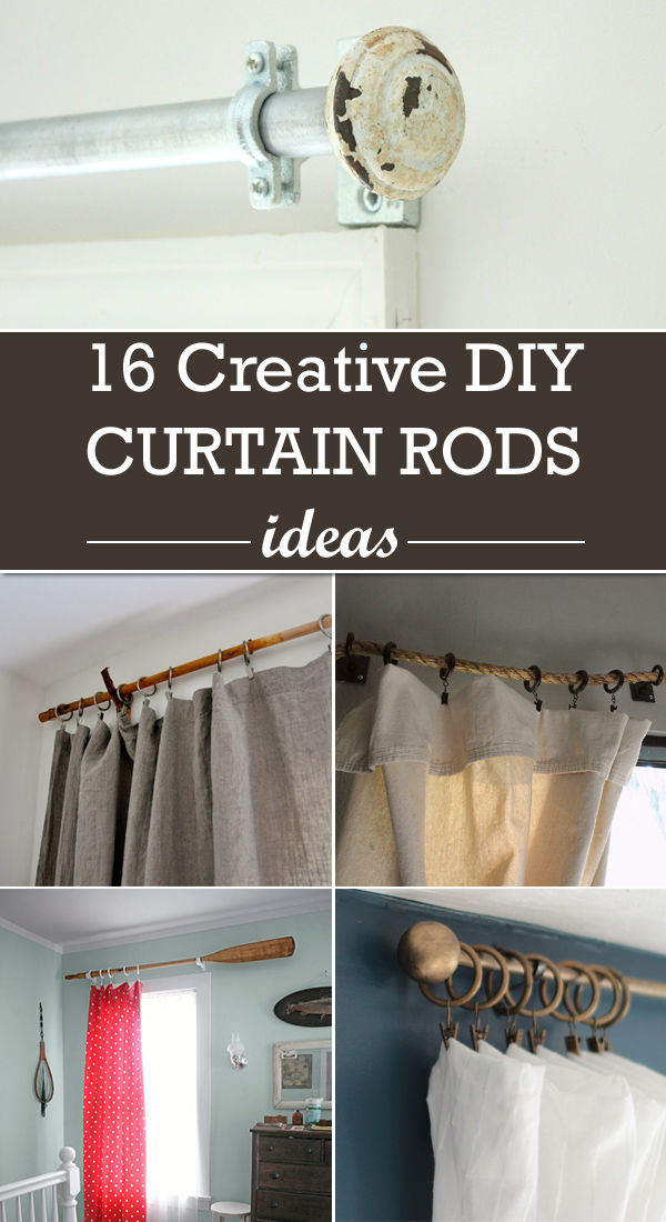 Ideas For Hanging Curtains Without Rods Small Rods for Curtains
