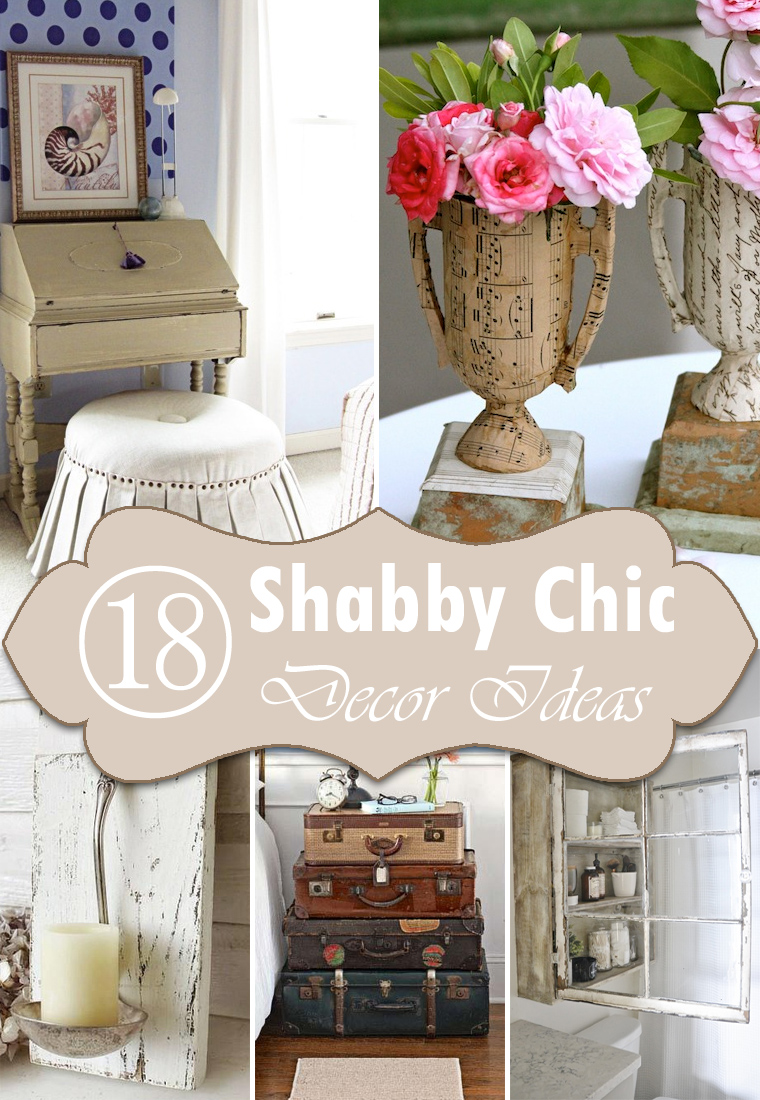 18 diy shabby chic home decorating ideas on a budget. Black Bedroom Furniture Sets. Home Design Ideas