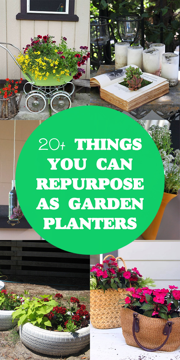 20+ Things You Can Repurpose as Garden Planters