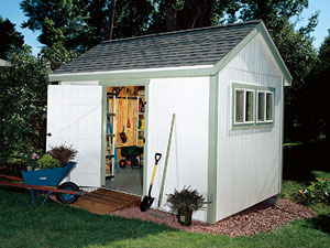 Capacious storage shed