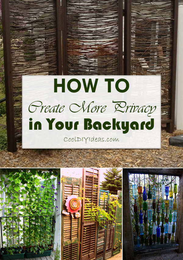 How To Get Privacy In Backyard 12 clever ways to create more privacy in your backyard