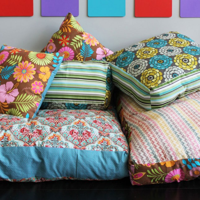 Colorful Jumbo Floor Pillows