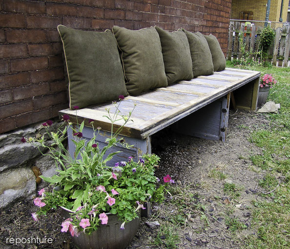 Garage Door Bench