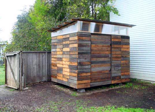 Garden Shed Made from Reclaimed Fencing