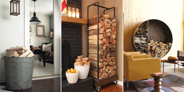 In this post You will find 10 ideas for decorative storage solutions for your firewood.
