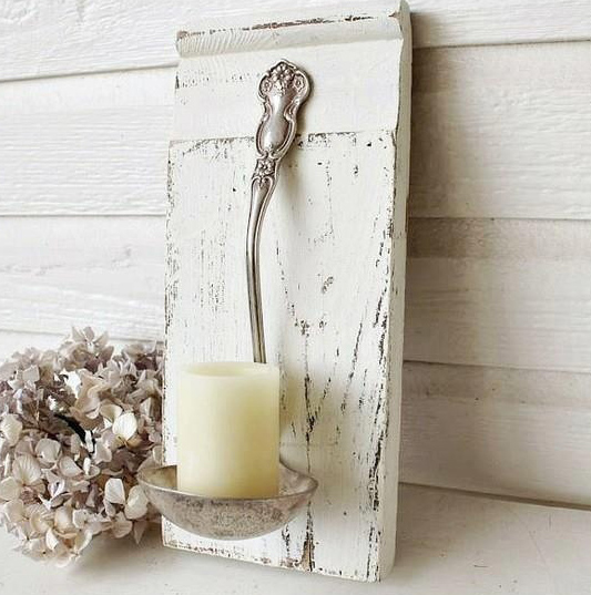 Make A Candle Holder In Shabby Chic Style
