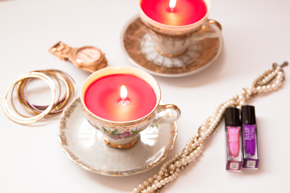 Turn Old Vintage Teacups into Cute Candles