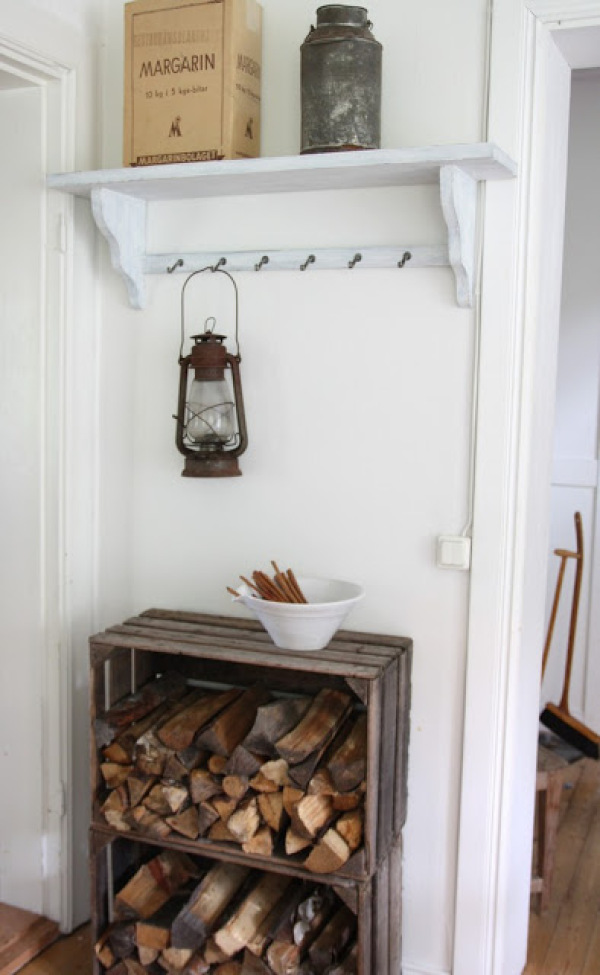 Use Wooden Crates To Hold Firewood