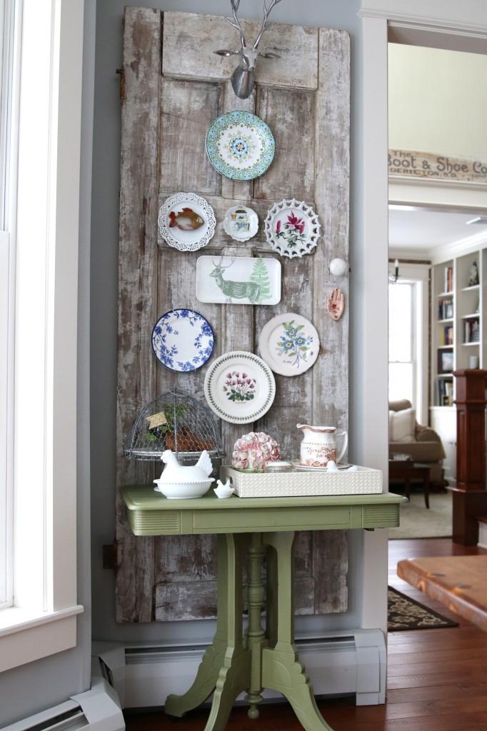 Vintage Door Plate Wall