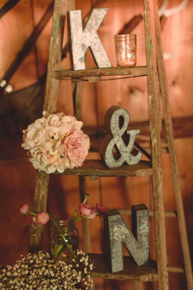 Vintage Ladder For Wedding Display