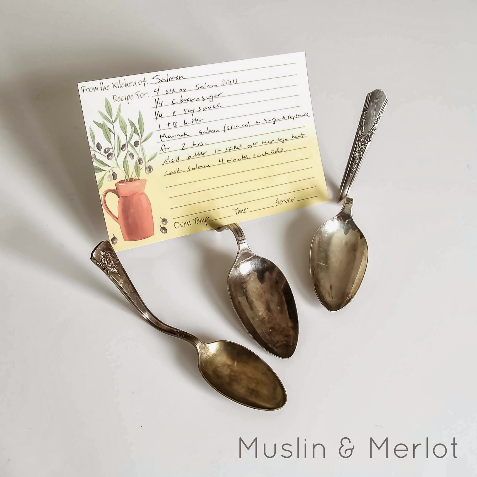 Vintage Spoon Recipe Holder