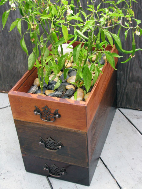 planter from dresser drawers
