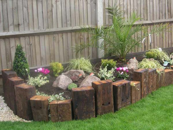 16 awesome garden and landscaping edging ideas for Diy flower bed edging ideas
