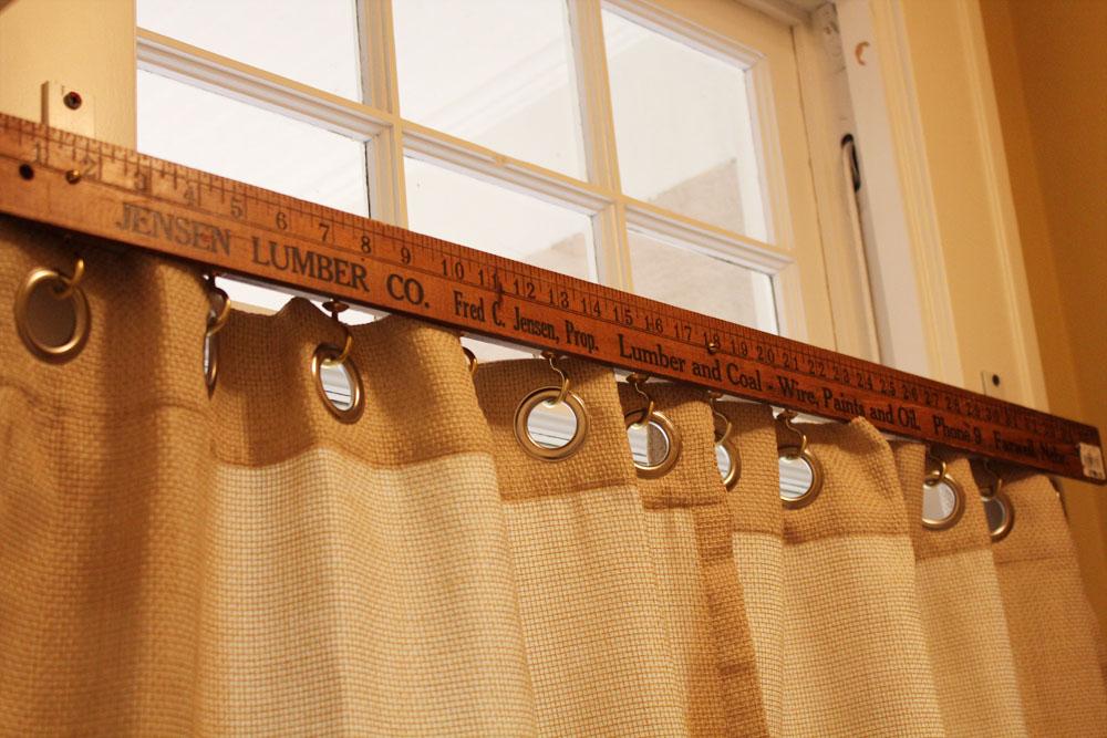 Use Yardstick As A Curtain Rod