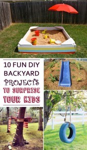10 Fun DIY Backyard Projects To Surprise Your Kids