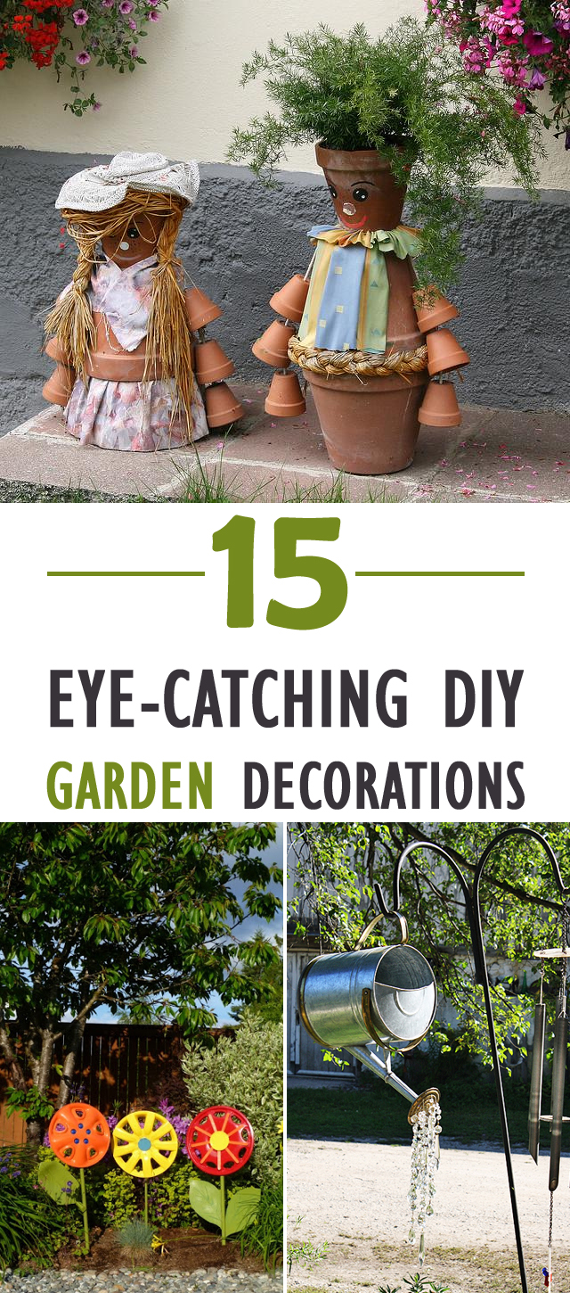 15 Eye-Catching DIY Garden Decorations