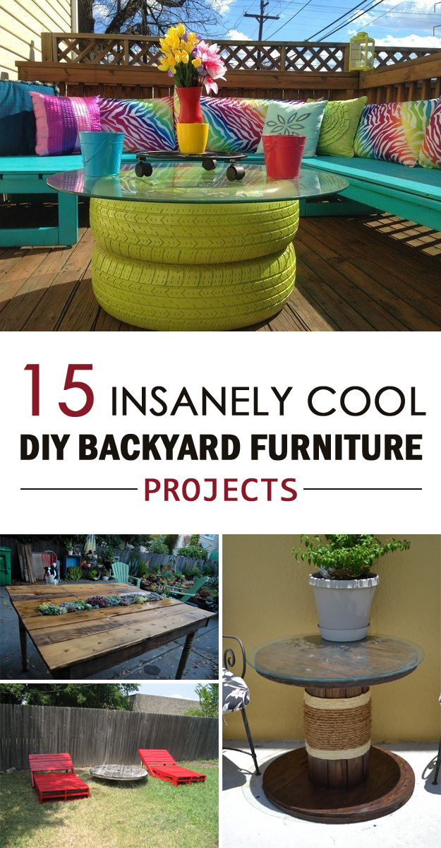 15 insanely cool diy backyard furniture projects - How to build a desk ideas you can easily put into practice ...